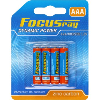 Батарейка солевая FOCUSray DYNAMIC POWER R03/BL4