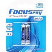 Батарейка щелочная FOCUSray ULTRA ALKALINE LR03/BL2