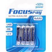Батарейка щелочная FOCUSray ULTRA  ALKALINE LR03/BL4