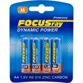 Батарейка солевая FOCUSray DYNAMIC POWER R6/BL4