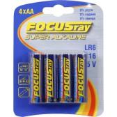 Батарейка щелочная FOCUSray SUPER ALKALINE LR6/BL4