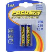 Батарейка щелочная FOCUSray SUPER ALKALINE LR6/BL2