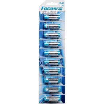 Батарейка щелочная FOCUSray SUPER ALKALINE LR6/BL1(10)