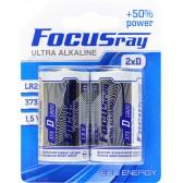 Батарейка щелочная FOCUSray ULTRA  ALKALINE LR20/BL2