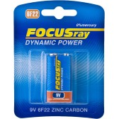 Батарейка солевая FOCUSray DYNAMIC POWER 6F22/BL1
