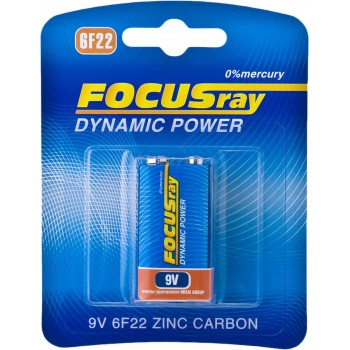 Батарейка солевая FOCUSray DYNAMIC POWER 6F22/BL1