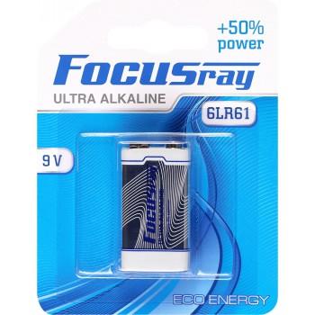 Батарейка щелочная FOCUSray ULTRA  ALAKLINE 6LR61/BL1