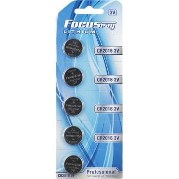 Батарейка литиевая FOCUSray LITHIUM CR2016/BL1(5)