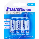Батарейка солевая FOCUSray STANDARD R6/BL8