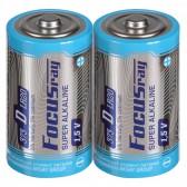 Батарейка щелочная FOCUSray SUPER  ALKALINE LR20/S2