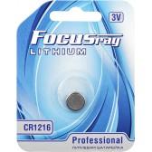 Батарейка литиевая FOCUSray LITHIUM CR1216