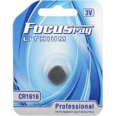Батарейка литиевая FOCUSray LITHIUM CR1616