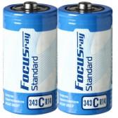 Батарейка солевая FOCUSray STANDARD R20/S2