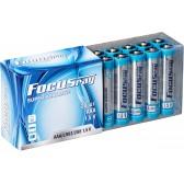 Батарейка щелочная FOCUSray SUPER ALKALINE LR03/20 plastic box