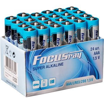 Батарейка щелочная FOCUSray SUPER ALKALINE LR03/24 TRAY