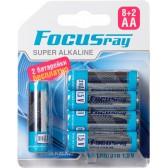 Батарейка щелочная FOCUSray SUPER ALKALINE LR6/(8+2)