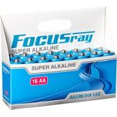 Батарейка щелочная FOCUSray SUPER ALKALINE LR6/BL16